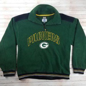 VTG 90s Green Bay Packers Mirage Fleece Jacket